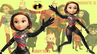 Incredibles 2 Poseable Dolls Wave 2 Elastigirl DevTech Suit Complete Set Action Figures Tubey Toys
