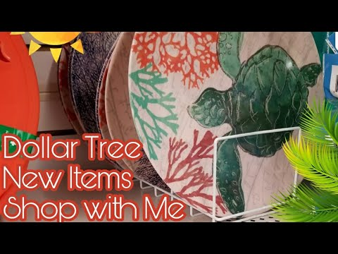 DOLLAR TREE SHOP WITH ME / AMAZING NEW ITEMS / SUMMER FUN 2018