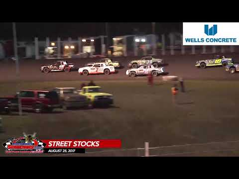 Wells Concrete Street Stock Highlights – August 25th, 2017 – River Cities Speedway