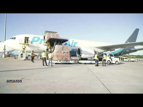 Amazon begins its airlift of Hurricane Dorian relief supplies to the Bahamas