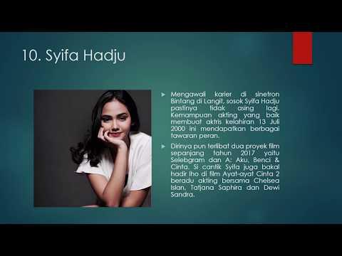 10 Aktris Muda Paling Cantik di Indonesia 2017.