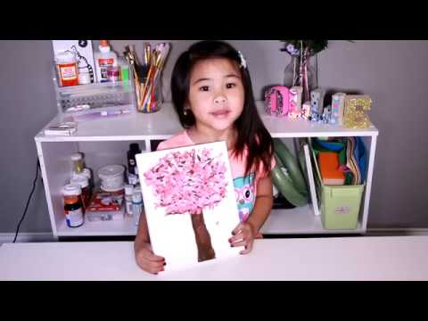 Diy Easy Cherry Blossom Painting Tutorial For Kids Spring Tree Painting Ideas For Toddlers Youtu