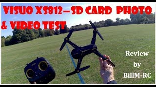 Visuo XS812 review - SD Card Photo & Video test
