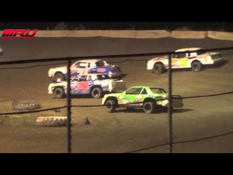 Night Before The Nationals IMCA Stock Car A Main at Stuart International Speedway on September 1st