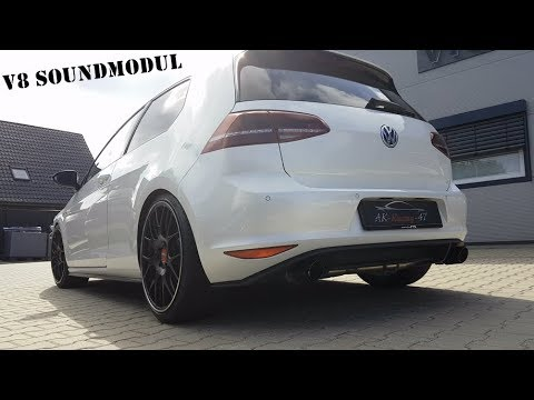 vw golf 7 gtd v8 soundbooster app control ak racing. Black Bedroom Furniture Sets. Home Design Ideas