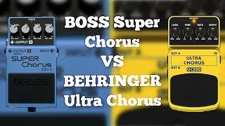 Boss CH-1 Super Chorus VS Behringer UC200 Ultra Chorus (Comparison)