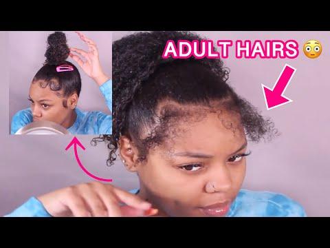 """How to: Slay """"Baby Hair"""" with Adult Hair   Ninja Bun"""