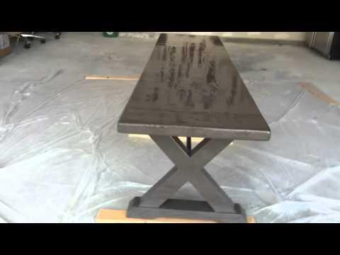 Banco de comedor de madera común