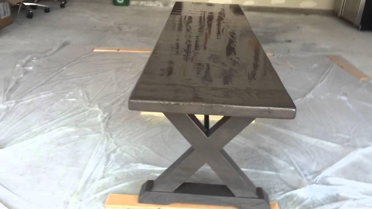 Banco de comedor de madera común - YouTube