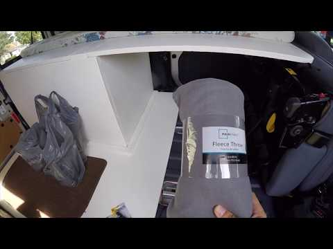 2010 Ford Transit Connect DIY Camper Van Conversion Battery Box and Window Covering Ideas (Van Life)