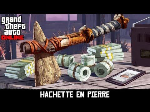 COMMENT AVOIR LA HACHE DE PIERRE GTA ONLINE.