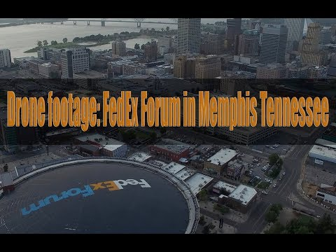 Drone footage: FedEx Forum in Memphis Tennessee