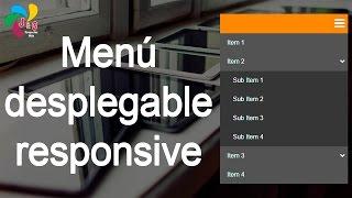 Menú desplegable responsive (HTML, CSS y Jquery)