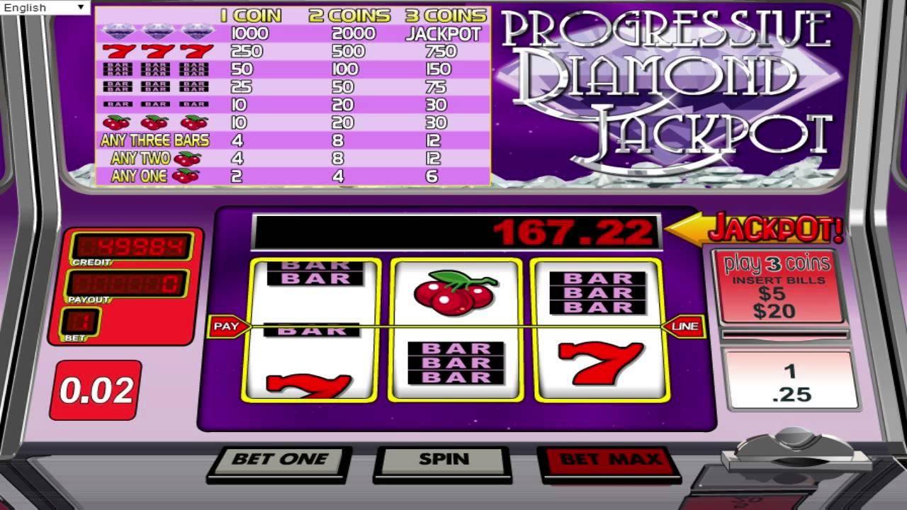 Diamond Jackpot Slot Machine