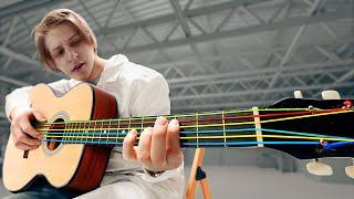 Что, если струны у гитары заменить на канцелярские резинки?