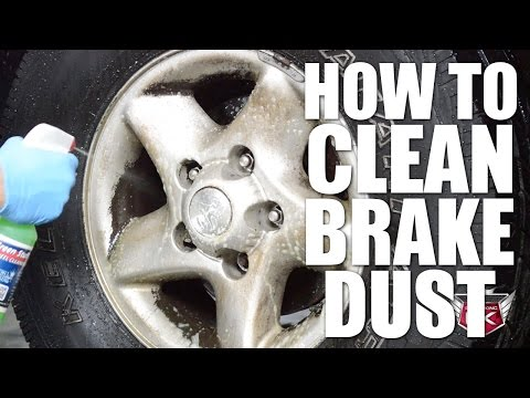 How to clean brake dust off of wheels