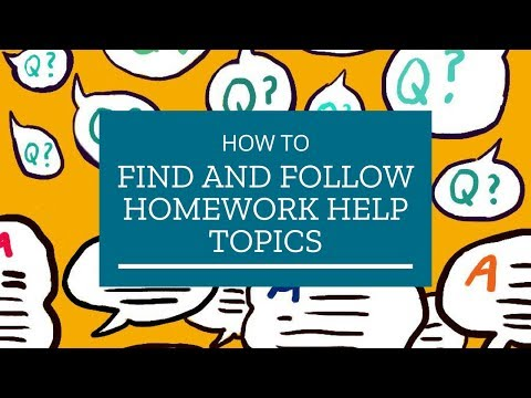 How find help for my assignments