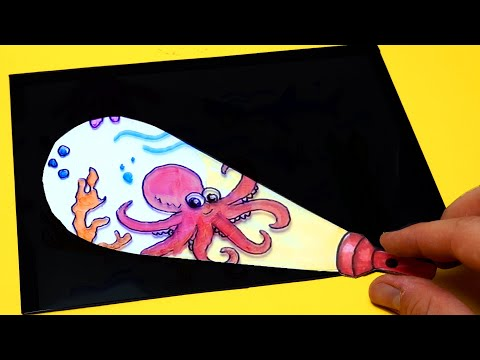 FUNNY THING YOU CAN MAKE OF PAPER - Sea Animals Paper Game for BEGINNERS |