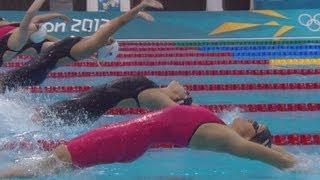 Emily Seebohm (AUS) Wins 100m Backstroke Semi-Final 2 - London 2012 Olympics