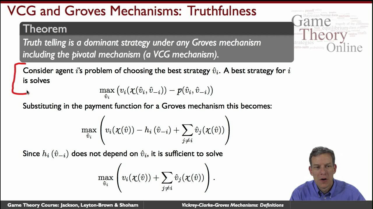 game theory truthful mechanism design