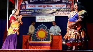 Yakshagana in Thulu Gejjeda Pooje Padya Puthige R Holla Artist K H Dasappa Rai and Sanjaykumar 1