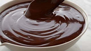 Chocolate glaze for donuts recipe only 3 ingredients