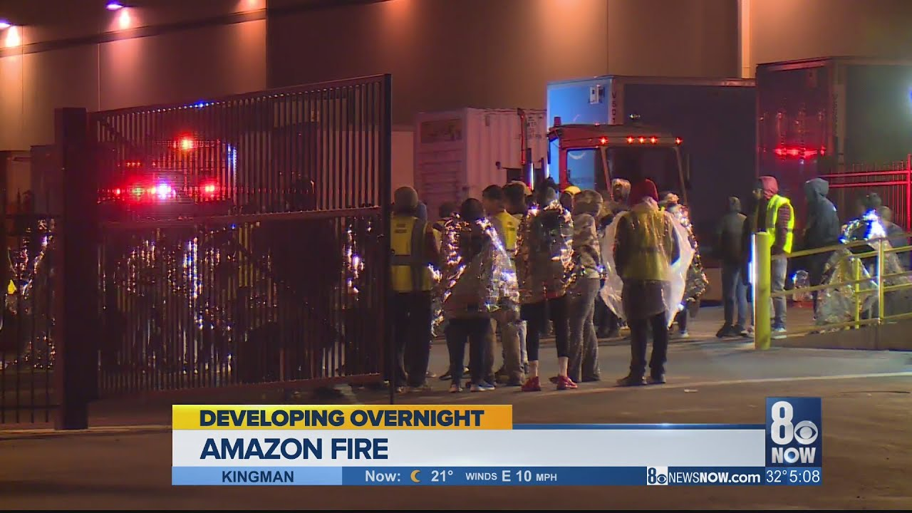 Fire At Amazon Warehouse In North Las Vegas Youtube