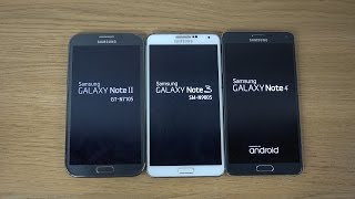 Samsung Galaxy Note 4 vs. Samsung Galaxy Note 3 vs. Samsung Galaxy Note 2 - Which Is Faster? (4K)