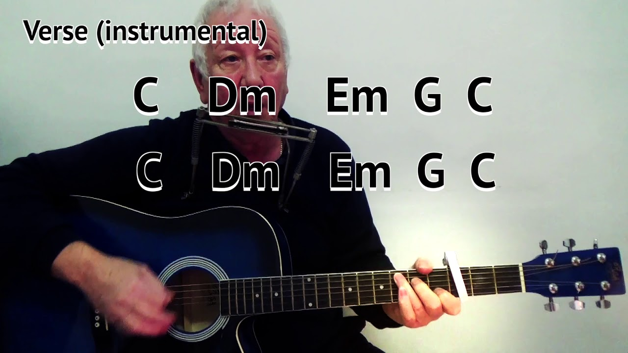 I Shall Be Released   Bob Dylan   cover   easy chord guitar lesson with  on screen chords and lyrics