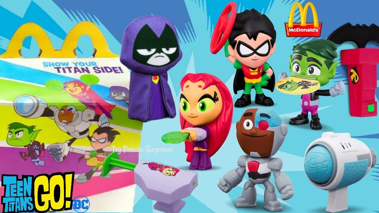 2019 Mcdonald S Teen Titans Go Happy Meal 8 Complete Set