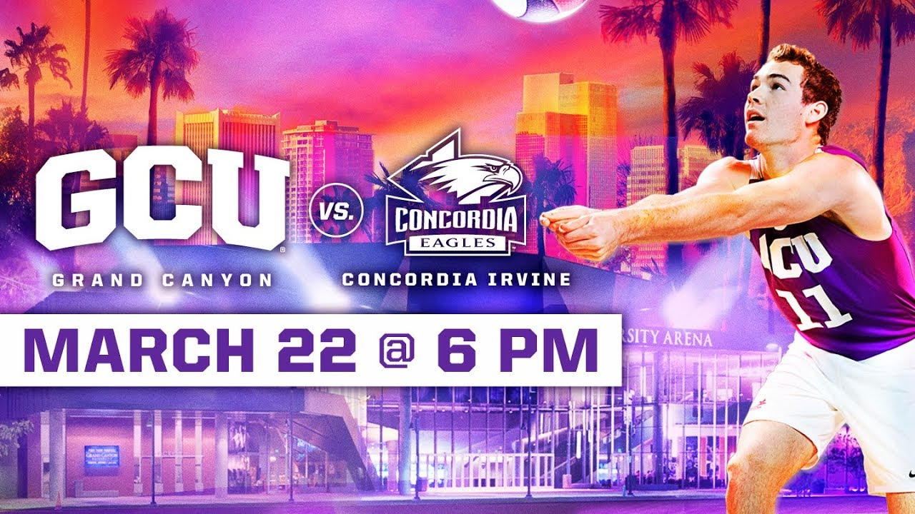 GCU Men's Volleyball vs. Concordia Irvine March 22, 2019