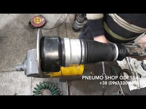 Восстановление передней стойки Mercedes W221 | Замена пневмобаллона  | Ремонт пневмоподвески Одесса