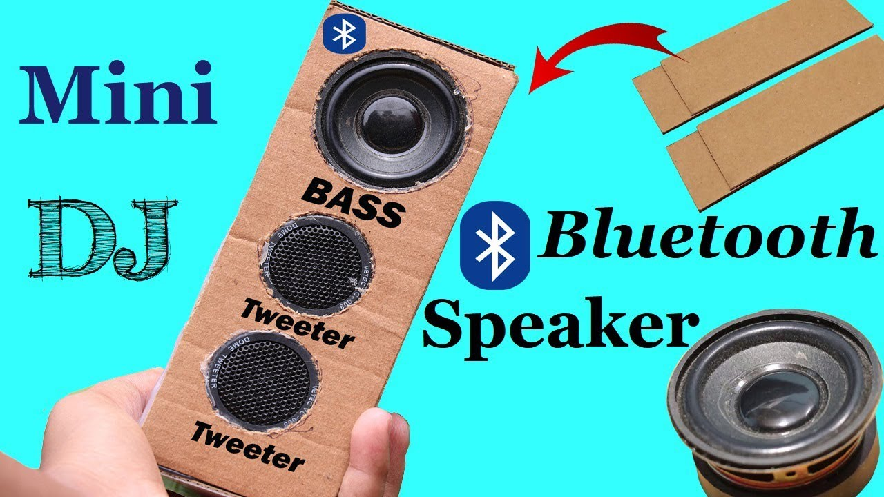 Haw to Make Bluetooth Speaker at Home Using Cardboard