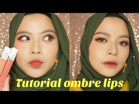 cara-membuat-ombre-lips-ala-korea-di-bibir-hitam- -how-to-make-korean-ombre-lips