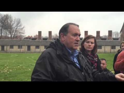 Governor Mike Huckabee speaking on the hell of Auschwitz be