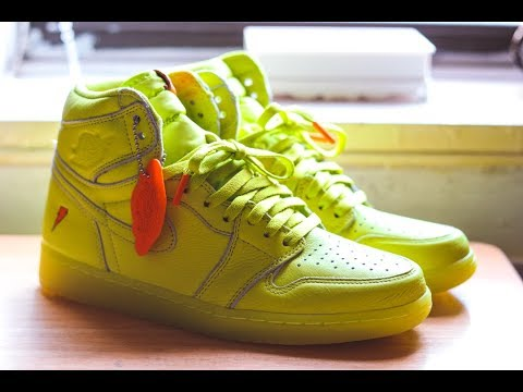 "AIR JORDAN 1 GATORADE ""LEMON LIME"" REVIEW + ON FEET (BEST QUALITY JORDAN OF THIS YEAR?)"