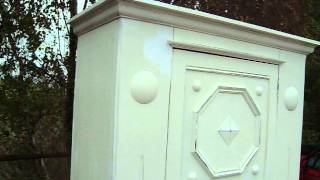 Vintage Painted Shabby Chic Wardrobe