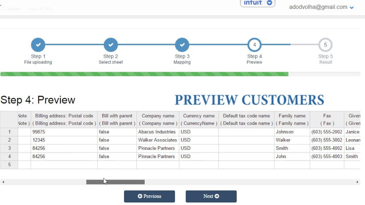 Import Customers into QuickBooks Online using Business Importer ...