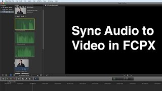 Sync Audio to Video in FCPX Mp3