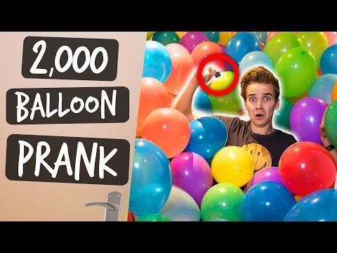 2,000 BALLOONS PRANK!