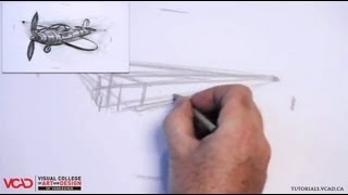 Learn How to Draw a Cartoon Airplane in Two Point Perspective Part 1 of 5