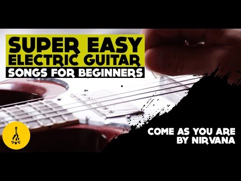 super easy electric guitar songs for beginners come as you are by nirvana youtube. Black Bedroom Furniture Sets. Home Design Ideas