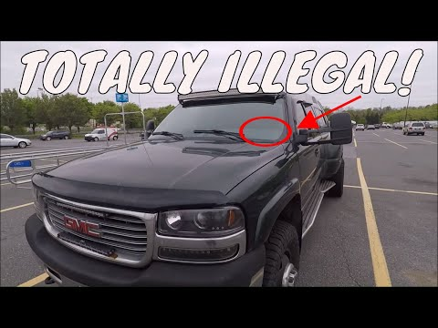 DRIVING AROUND IN MY DURAMAX WITH NO INSPECTION/WEIGHT STICKERS!