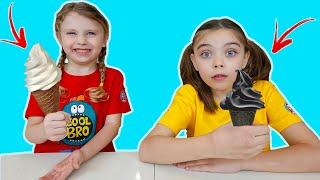 Mancare Alba sau Neagra Challenge   Funny kids video