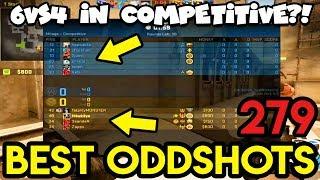 6 vs 4 GAME ?! *MEGA GLITCH* - CS:GO BEST ODDSHOTS #279