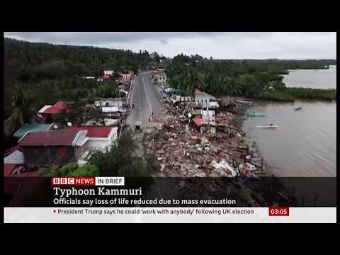 Weather Events 2019 – Tyhoon Kammuri barrels through (Philippines) – BBC & Sky – 4th December 2019