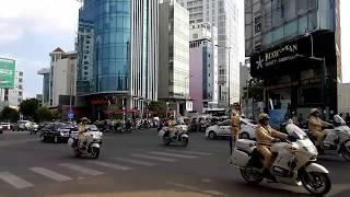 Hộ tống đoàn xe thủ tướng Singapore ra sân bay - Singapore Prime Minister convoy to airport