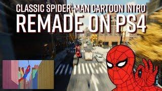 PS4 Üzerinde klasik Örümcek Adam Çizgi film Intro Yeniden