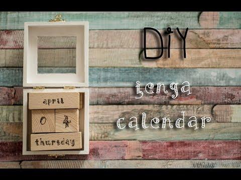DIY Jenga Calendar | Woodburning