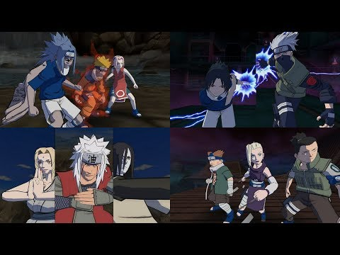 Naruto Gekitou Ninja Taisen 4 - All Team Ultimate Jutsu Ougi 1080p 60 FPS